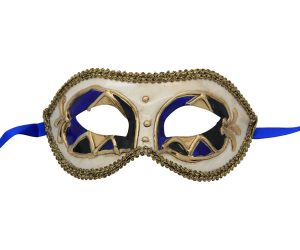 Black, Blue and Gold Venetian Mask