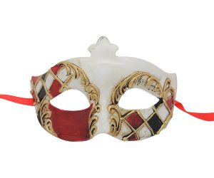 La Musica Red Venetian Mask