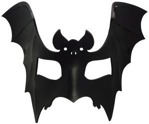 Black Leather Bat Mask