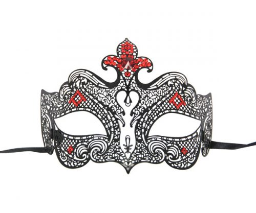 The Red Queen Filigree Masquerade Mask