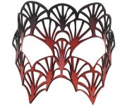 Red and Black Mosaic Leather Mask