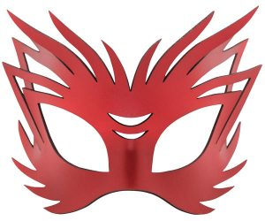 Red Wild Authentic Leather Filigree Mask