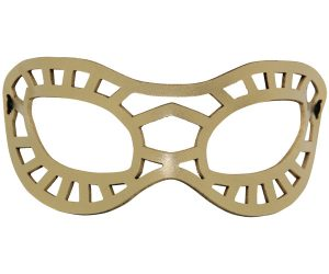 Gold Superhero Leather Eye Mask