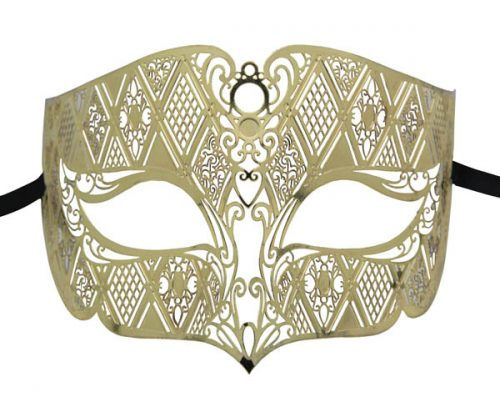 Gold Noble Filigree Masquerade Mask
