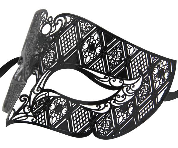 Metal Filigree Wide Mens Masquerade Mask