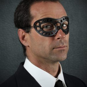 Black Superhero Leather Eye Mask