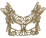 Gold Baroque Large Authentic Leather Mask