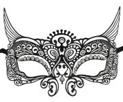 Metal Icarus Masquerade Mask with Clear Crystals