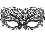 Metal Mystic Masquerade Mask with Clear Crystals