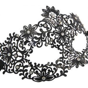 Metal Garden of Eden Masquerade Mask with Crystals