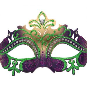 Purple, Green and Gold Party Mask