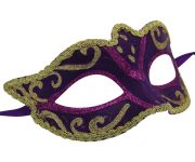 Purple and Gold Classic Venetian Mask
