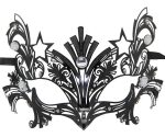 Women's Superhero Black Metal Filigree Masquerade Mask