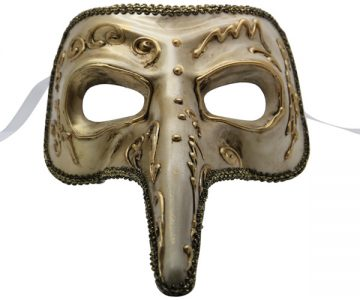 Silver and Gold Venetian Mask