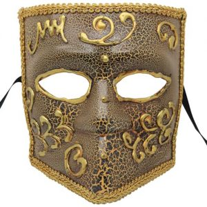 Brown and Gold Venetian Mask