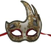 White and Gold Venetian Mask