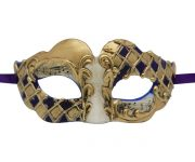 Gold and Blue Venetian Mask