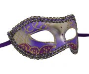 Silver and Purple Venetian Mask
