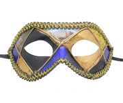 Multicolored (Black Blue Gold Yellow) Venetian Mask