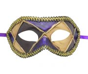 Multicolored (Black Purple Beige) Venetian Mask