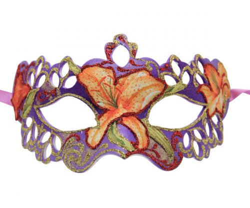 Purple Floral Masquerade Mask