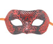 Unique Black And Red Authentic Masquerade Mask