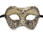 Cream and Silver Musical Masquerade Mask