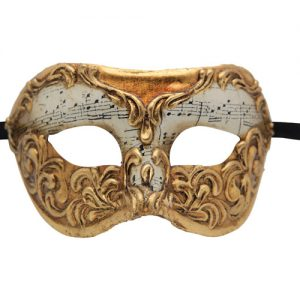 Gold Musical Authentic Masquerade Mask