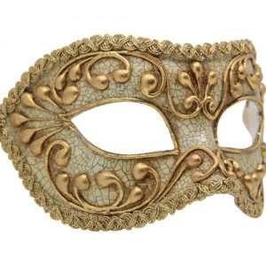 Gold And Cream Authentic Masquerade Mask