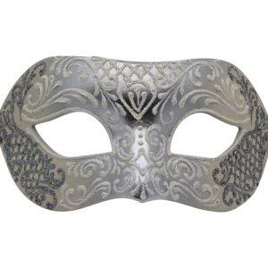Unique Silver Authentic Masquerade Mask