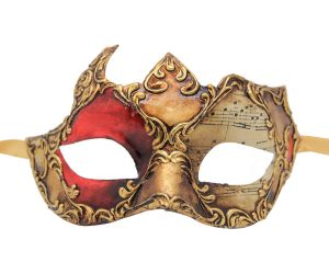 Red And Gold Authentic Venetian Mask