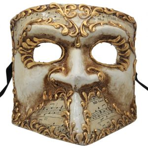 Gold Musical Bauta Authentic Venetian Mask