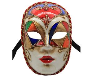 Stunning Full Face Authentic Venetian Mask