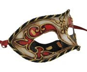 Black And Red Authentic Masquerade Mask