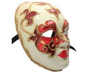 Red And White Authentic Venetian Mask