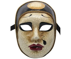Sad Face Authentic Venetian Mask