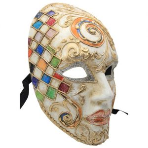 Coloured Swirl Authentic Venetian Mask