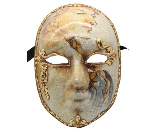 Stunning Hand Painted Authentic Venetian Mask