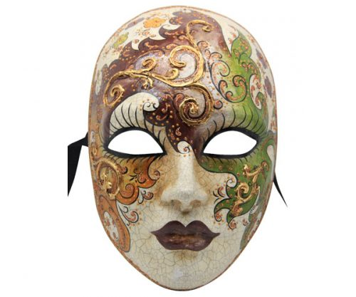 Green Red And Gold Authentic Venetian Mask
