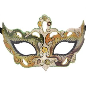 Green And Orange Authentic Masquerade Mask