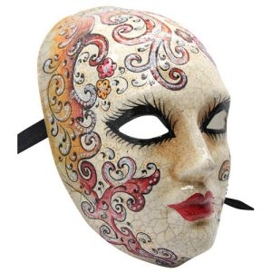 Authentic Venetian Mask With Swirls