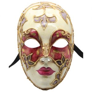 Red Gold Authentic Venetian Mask