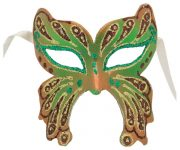 Green Butterfly Masquerade Mask