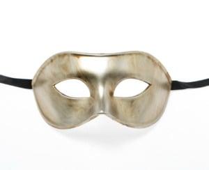 Metallic Vintage Gold Eye Mask