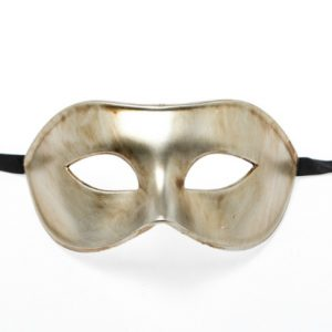 Metallic Vintage Gold Eye Mask