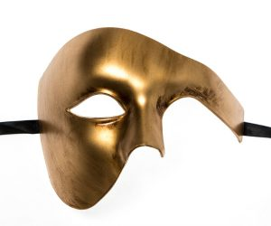 Metallic Gold Phantom Mask