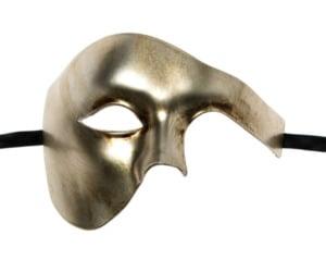 Metallic Vintage Gold Phantom Mask