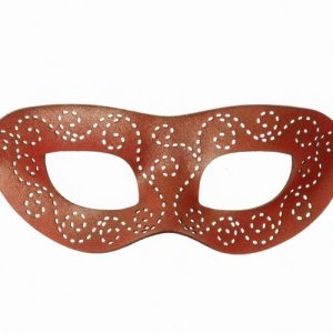 Pearlescent Sunset Authentic Leather Masquerade Mask