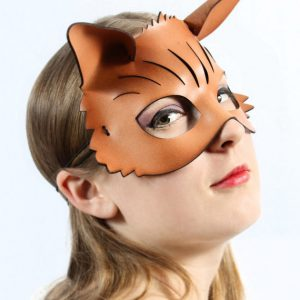 Leather Brown Fox Mask