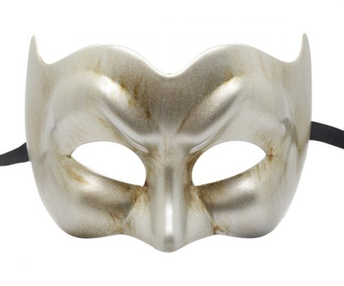 MMHQ-569- Brushed Silver Masquerade Mask